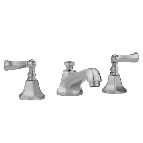 Jaclo - Oil-Rubbed Bronze - Astor Faucet with Ribbon Lever Handles & Fully Polished & Plated Pop-Up Drain