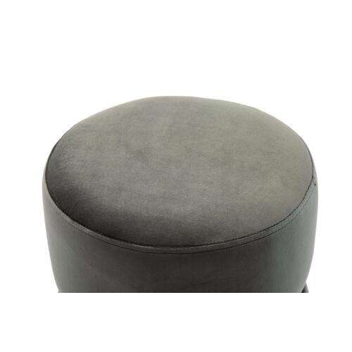 Tov Furniture - Yamma Grey Velvet Ottoman