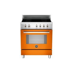 Bertazzoni30 4-Induction Zones, Electric Self-Clean oven Orange