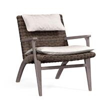 Outdoor occasional chair upholstered in COM