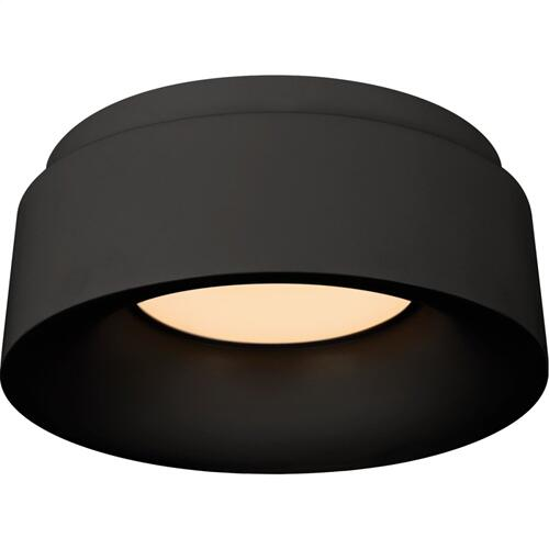 Visual Comfort BBL4090BLK Barbara Barry Halo LED 6 inch Matte Black Flush Mount Ceiling Light, Petite
