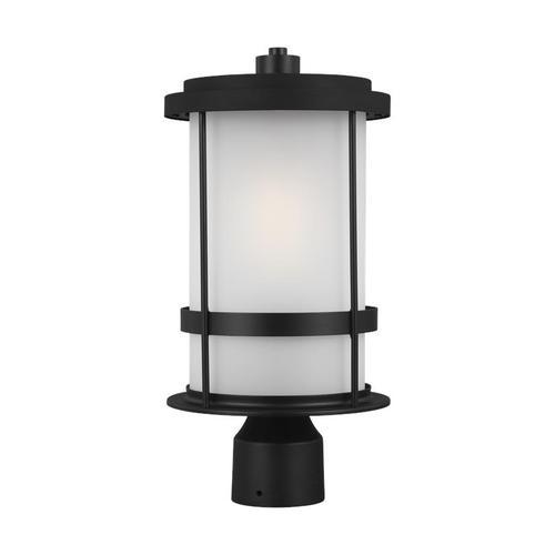 Wilburn One Light Outdoor Post Lantern Black Bulbs Inc