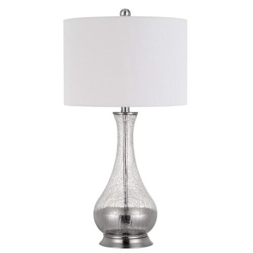 150W 3 Way Potenza Glass Table Lamp (Priced And Sold in Pairs)