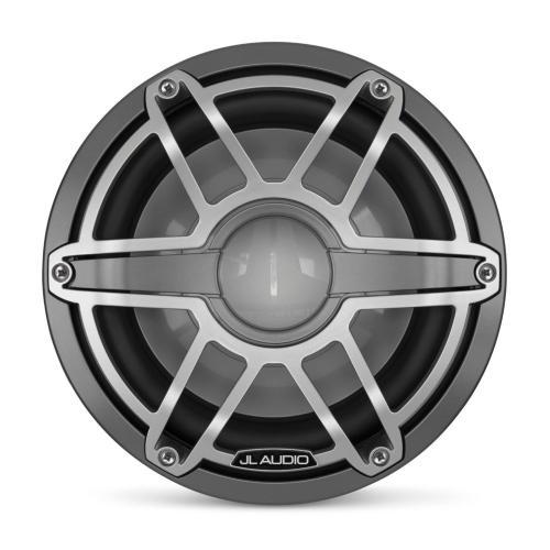 JL Audio - 10-inch (250 mm) Marine Subwoofer Driver, Gunmetal Trim Ring, Titanium Sport Grille, 4