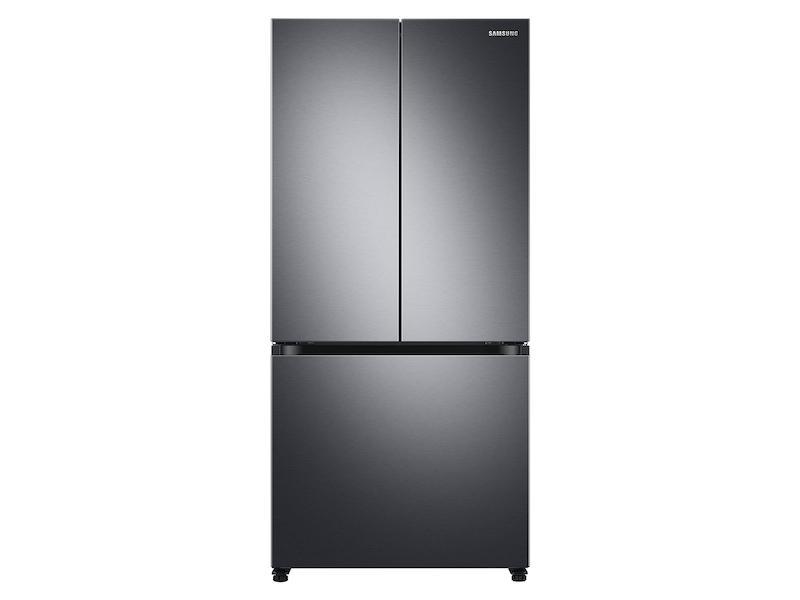 Samsung19.5 Cu. Ft. Smart 3-Door French Door Refrigerator In Black Stainless Steel