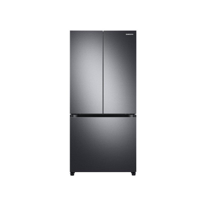19.5 cu. ft. Smart 3-Door French Door Refrigerator in Black Stainless Steel