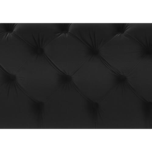 Kaylee Jumbo Black Velvet Ottoman