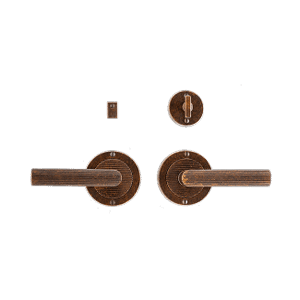 """Flute Privacy Set - 3 1/2"""" Silicon Bronze Brushed Product Image"""