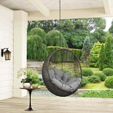 Hide Outdoor Patio Swing Chair Without Stand in Gray Gray