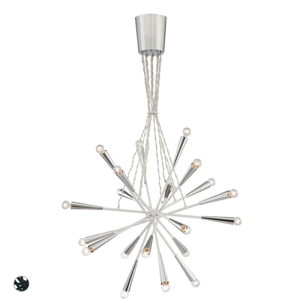 """See Details - 30"""" ROUND PENDANT - Chrome"""