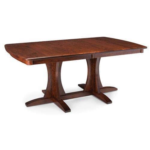 Simply Amish - Grace Double Pedestal Table - QuickShip