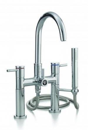 CONTEMPORARY Rim Mount Tub Faucet with Hand Shower Product Image