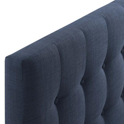 Emily Full Upholstered Fabric Headboard in Navy