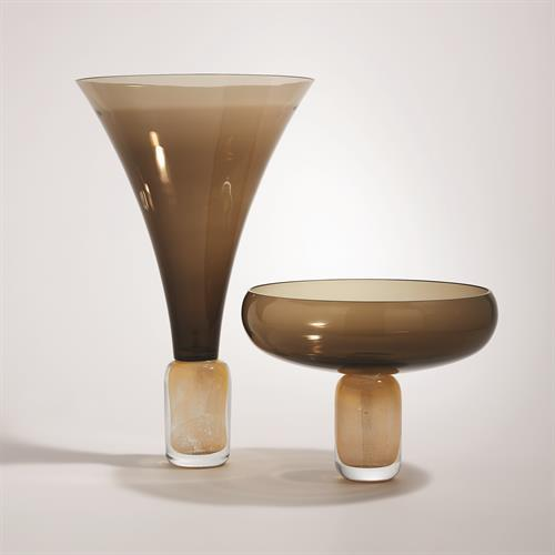 Golden Smoke Trumpet Vase