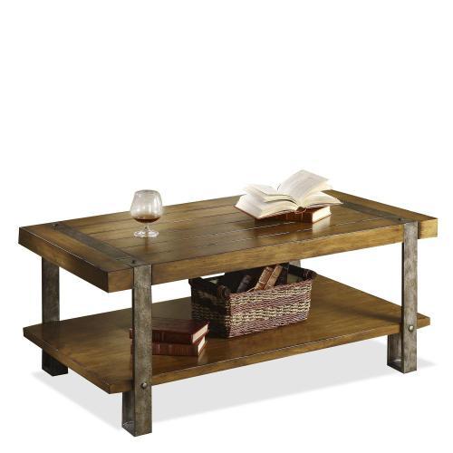 Sierra - Coffee Table - Landmark Worn Oak Finish
