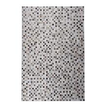 Durable Handmade Natural Leather Patchwork Cowhide Tikkul Area Rug by Rug Factory Plus - 5' x 7' / Gray