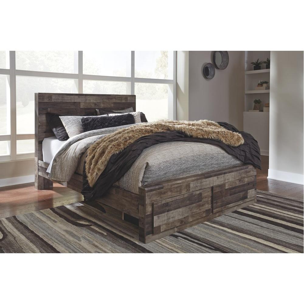 Derekson Queen Panel Bed With 2 Storage Drawers
