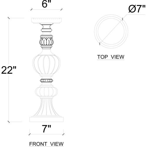 Empire Ring Candlestick Large