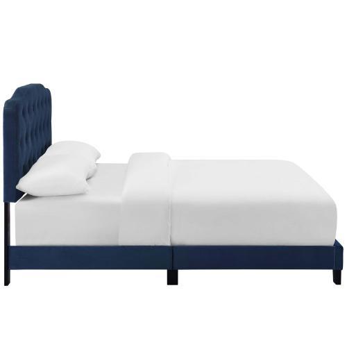 Modway - Amelia Queen Performance Velvet Bed in Navy