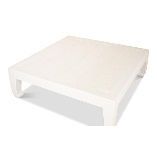 Classic Chinese Coffee Table, White