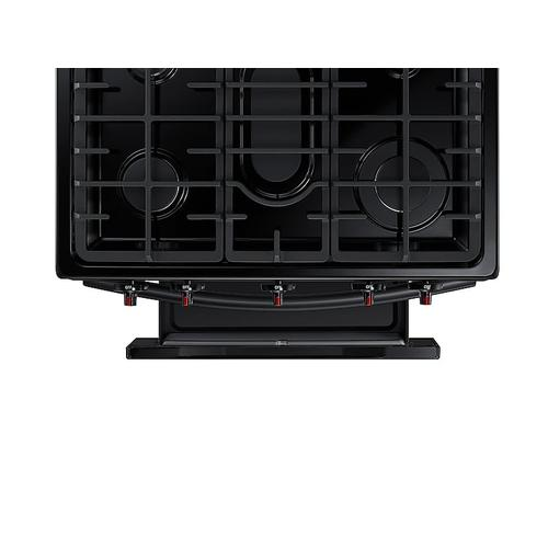 Samsung - 5.8 cu. ft. Freestanding Gas Range in Black