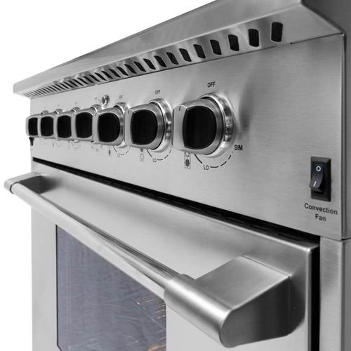 """Nxr Ranges - NXR 36"""" Professional Range with Six Burners, Convection Oven, Natural Gas (DRGB3602) Special Offer available for a limited time!"""