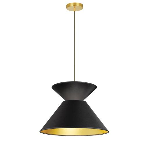 1lt Patricia Pendant, Blk/gld Shade, Agb