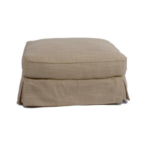 Horizon Slipcovered Chair and Ottoman - 466082