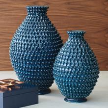 Pinecone Vase-Cobalt-Sm