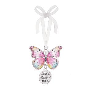 Blissful Journey Butterfly Ornament - Wish it. Dream it. DO it
