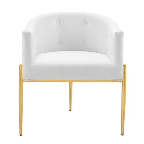 Modway - Savour Tufted Performance Velvet Accent Chair in White