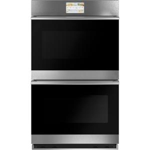 "Cafe30"" Smart Double Wall Oven with Convection in Platinum Glass"