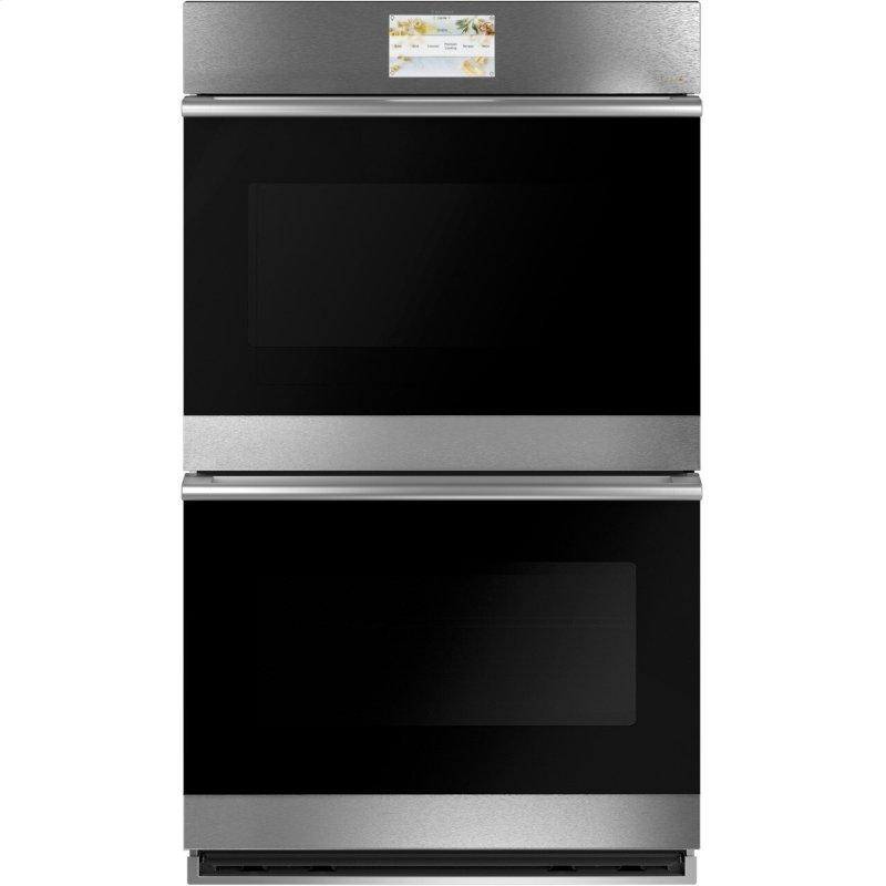 """Café™ 30"""" Smart Double Wall Oven with Convection in Platinum Glass"""