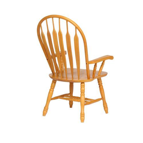 Comfort Dining Arm Chair - Light Oak