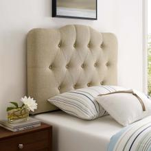 Annabel Twin Upholstered Fabric Headboard in Beige