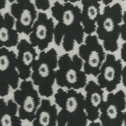 Poppies Black Fabric