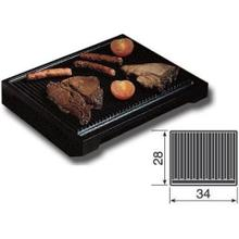 Large Ribbed Cast Iron Steak Grill Pan