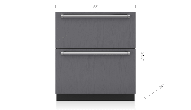 "Subzero30"" Designer Refrigerator Drawers - Panel Ready"
