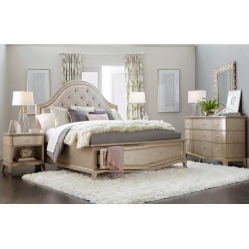 A.R.T. Furniture - Starlite California King Upholstered Panel Bed with Storage