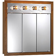 "30""W x 30""H - Honey Oak/Lighted Cabinet"