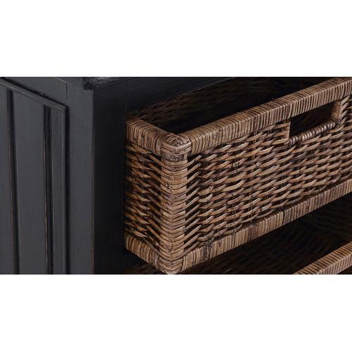 Homestead Narrow Hallstand w/ Rattan Baskets