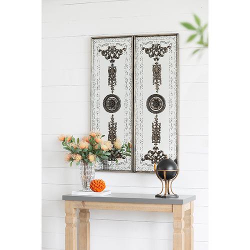 A & B Home - S/2 Doorways Mirrored Wall Art