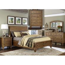 View Product - Queen Storage Bed, Dresser & Mirror, Chest, N/S