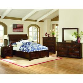Sleigh Bed with Storage (Full)