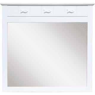 Fishtail White Mirror