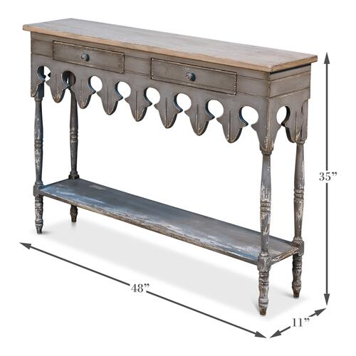 Napoleon Hall Table Smokey Grey