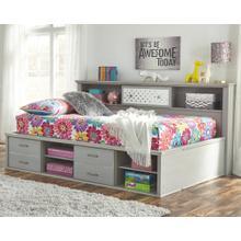Arcella Full Bookcase Bed Gray