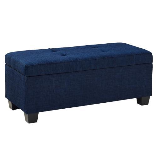 Ethan 3PK Storage Ottoman in Blue