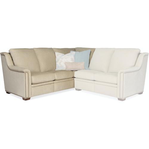 Bradington Young Raiden LSF Sofa Corner Return Recliner At Arm w/Art Headrest 204-73