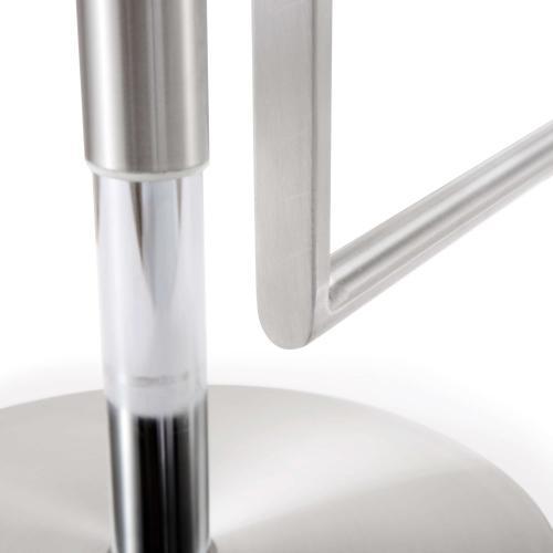 Tov Furniture - Amalfi White Stainless Steel Barstool